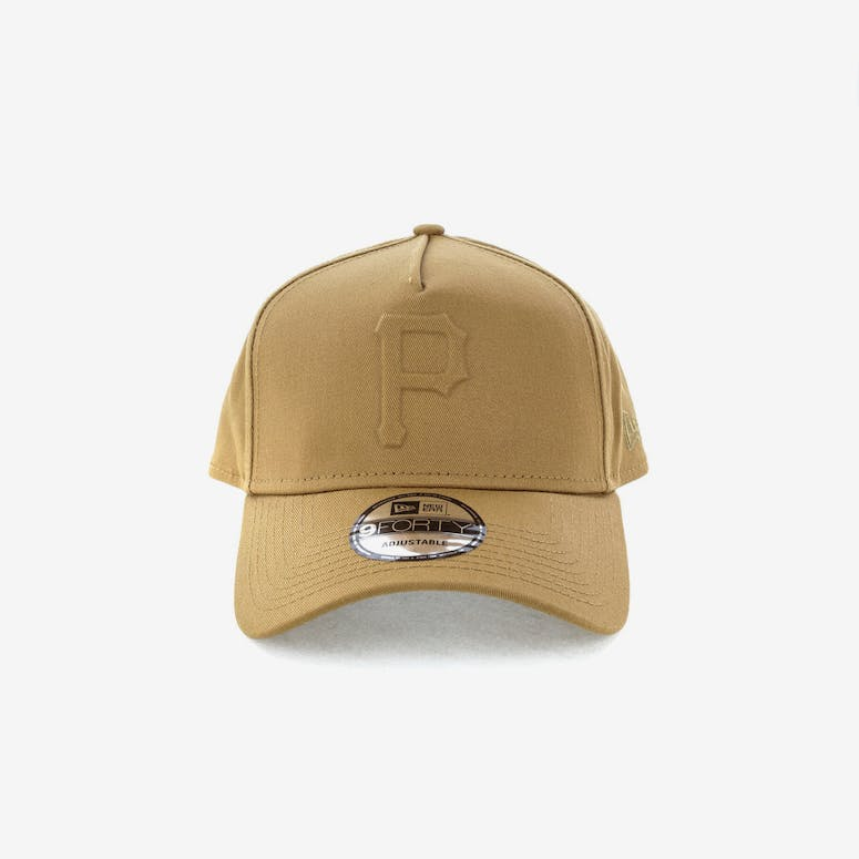 cad2820a25b New Era Pittsburgh Pirates Emboss 9FORTY A-Frame Snapback Wheat – Culture  Kings