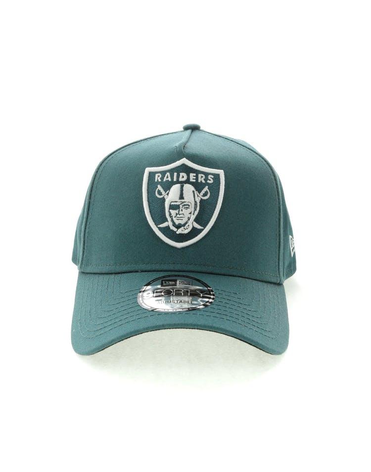 89994936b54 New Era Oakland Raiders 9FORTY A-Frame Black UV Snapback Blue Spruce –  Culture Kings