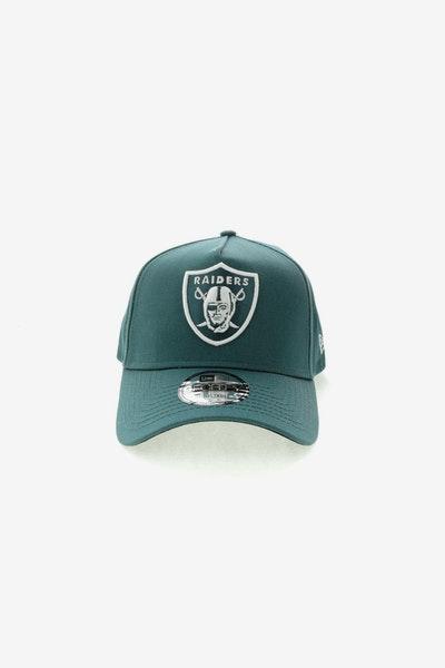e0dc22cc5a2 New Era Oakland Raiders 9FORTY A-Frame Black UV Snapback Blue Spruce