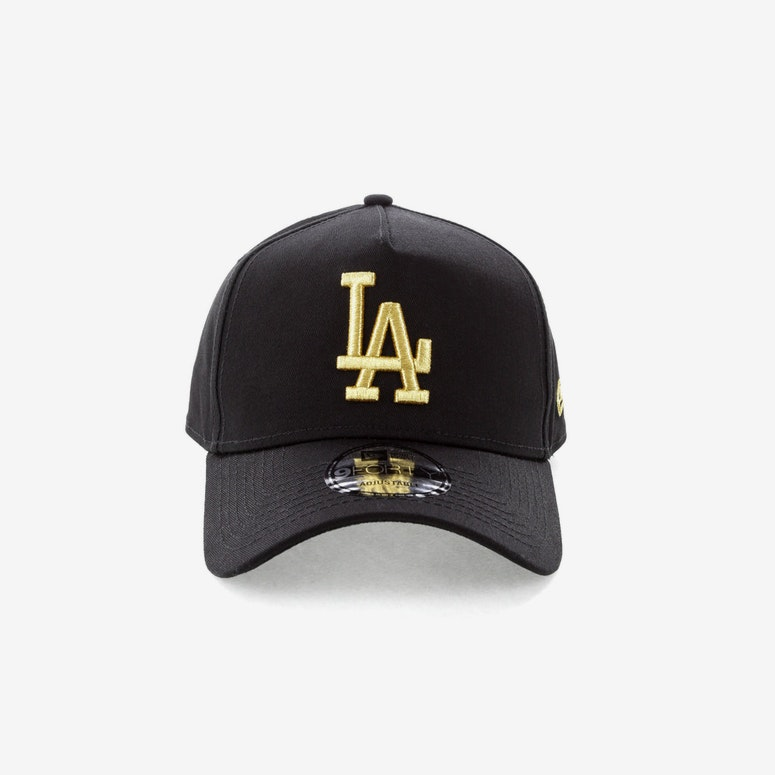 New Era Los Angeles Dodgers 940 A-Frame Strapback Black/Gold ...