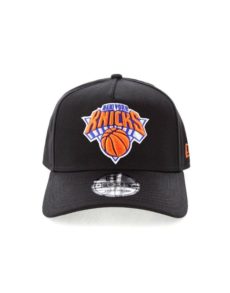 645e3e243d0 New Era New York Knicks NBA 9FORTY A-Frame Snapback Black – Culture Kings