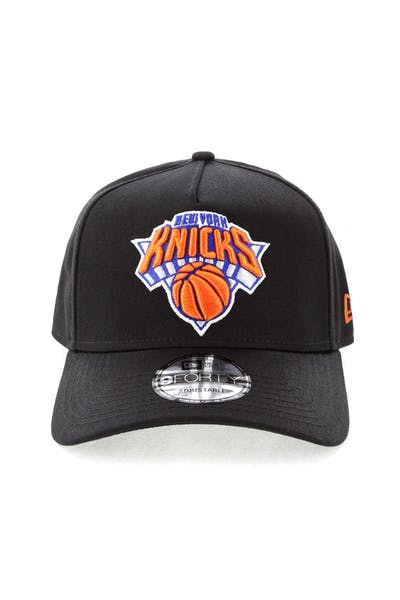 official photos 45daf 3f7d6 New Era New York Knicks NBA 9FORTY A-Frame Snapback Black ...