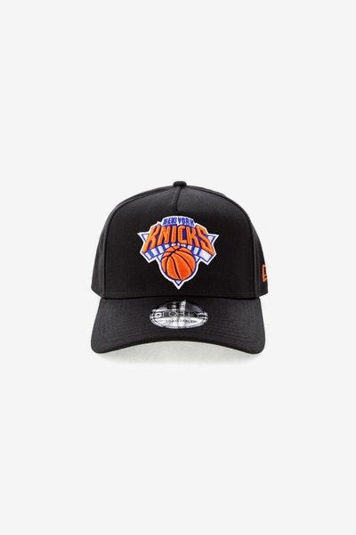 2e3833a2051 New Era New York Knicks NBA 9FORTY A-Frame Snapback Black