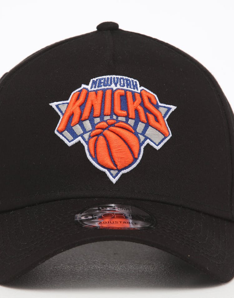 New Era New York Knicks NBA 9FORTY A-Frame Snapback Black