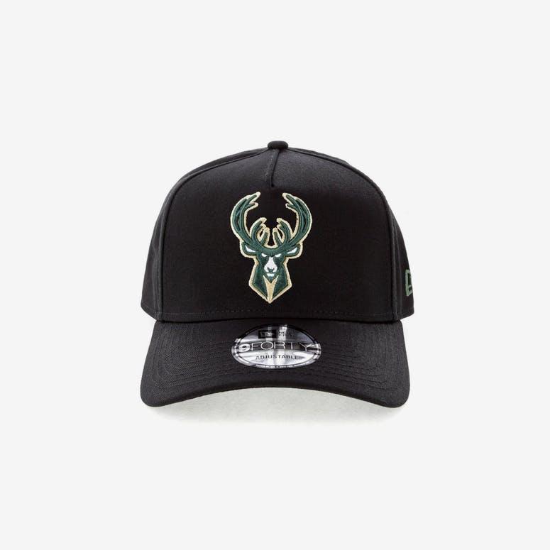 223a5c45491 New Era Milwaukee Bucks NBA 9FORTY A-Frame Snapback Black – Culture Kings