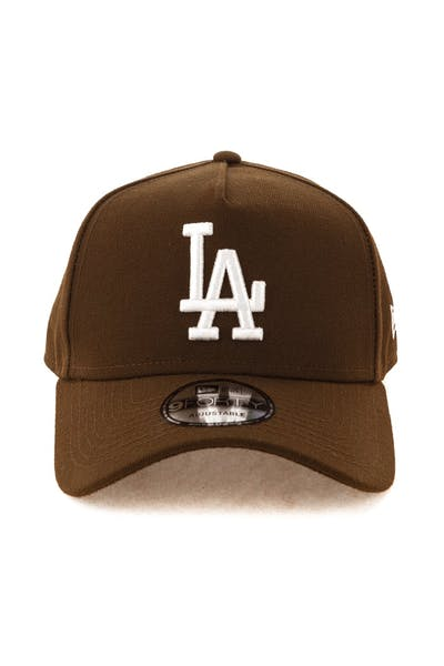 ed883bd96cf07 New Era Los Angeles Dodgers 9FORTY A-Frame Snapback Chocolate