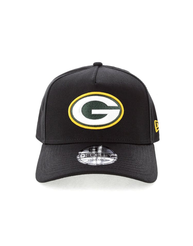 9ff0a4319a9 New Era Green Bay Packers NFL 9FORTY A-Frame Snapback Black – Culture Kings
