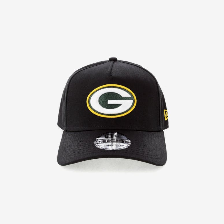 New Era Green Bay Packers NFL 9FORTY A-Frame Snapback Black – Culture Kings 25cd1d186883