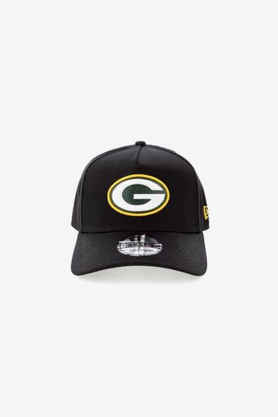 New Era Green Bay Packers NFL 9FORTY A-Frame Snapback Black b2a55b452