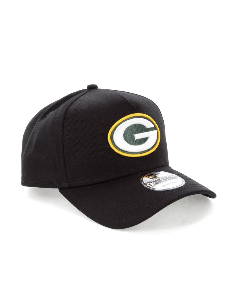 New Era Green Bay Packers NFL 9FORTY A-Frame Snapback Black