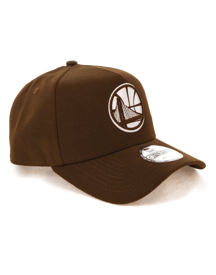 New Era Golden State Warriors 9FORTY A-Frame Snapback Chocolate