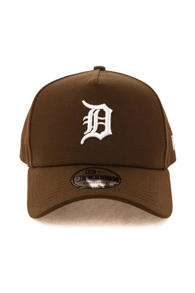 932f55e012bda2 New Era Detroit Tigers 9FORTY A-Frame Snapback Chocolate