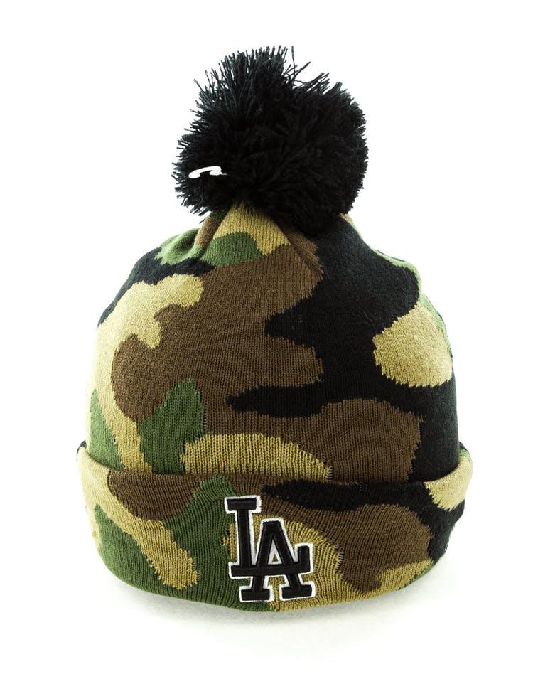 3dae4a281 New Era Los Angeles Dodgers Pom Knit Beanie Camo
