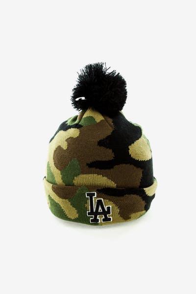 New Era Los Angeles Dodgers Pom Knit Beanie Camo 3bccfca94