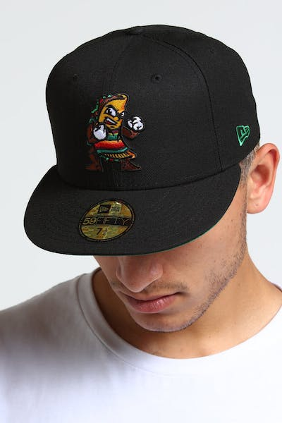 new style 538a6 c71c8 New Era Fresno Grizzlies 59FIFTY Fitted Black Kelly Green ...