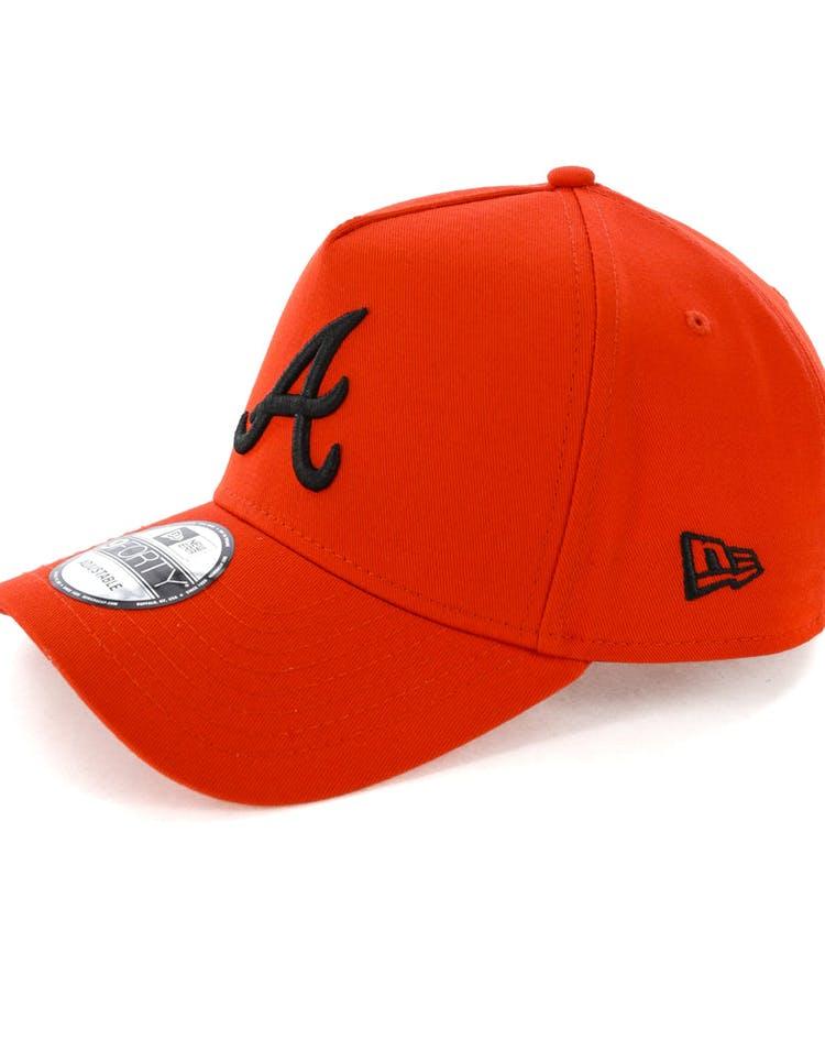 save off 19f47 2df49 New Era Atlanta Braves 9FORTY A-Frame Snapback Cherry Black
