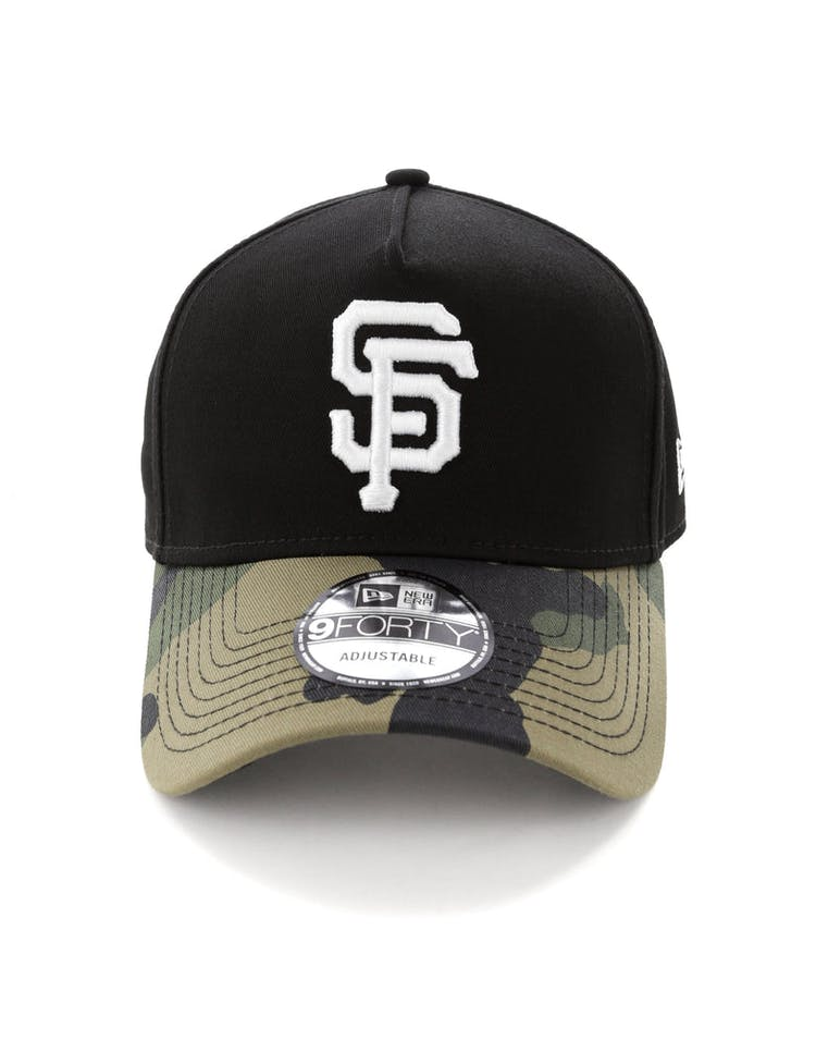 brand new 96b03 55523 New Era San Francisco Giants 2 Tone 9FORTY A-Frame Snapback Black Camo