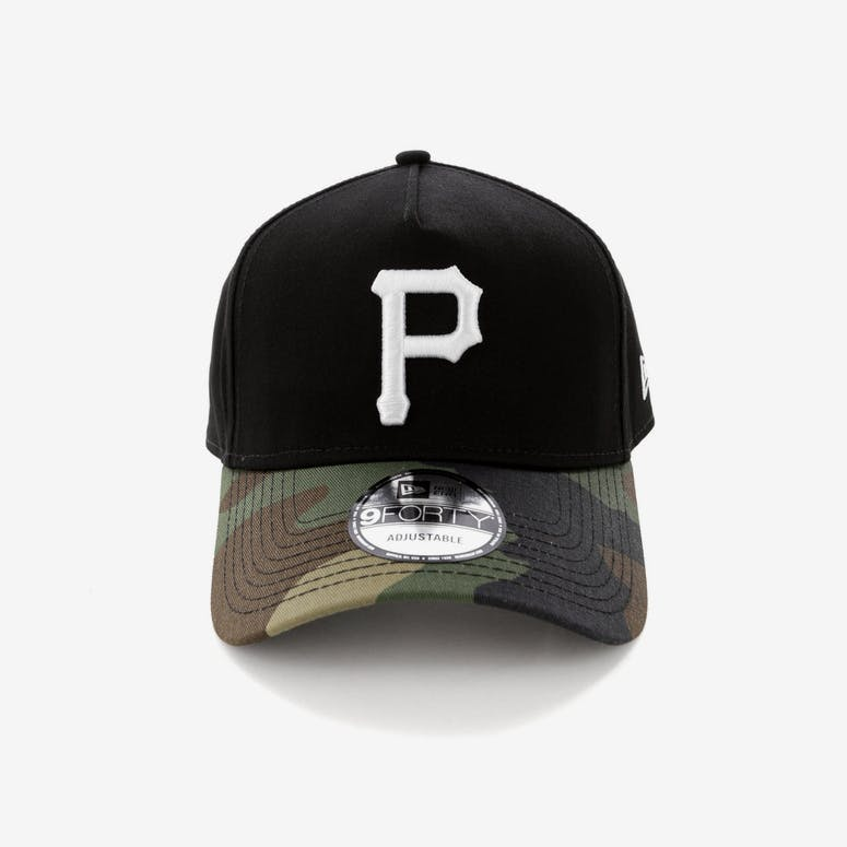 4def9620e34 New Era Pittsburgh Pirates 2 Tone 9FORTY A-Frame Snapback Black Camo – Culture  Kings