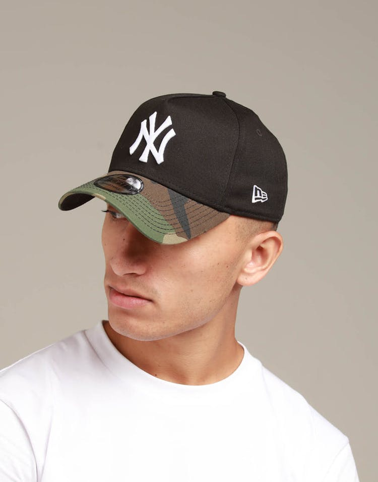 6d9ea03d7 New Era New York Yankees 2 Tone 9FORTY A-Frame Snapback Black/Camo