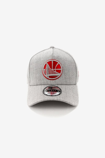 New Era Golden State Warriors CK 940 A-Frame Snapback Heather Grey/Red