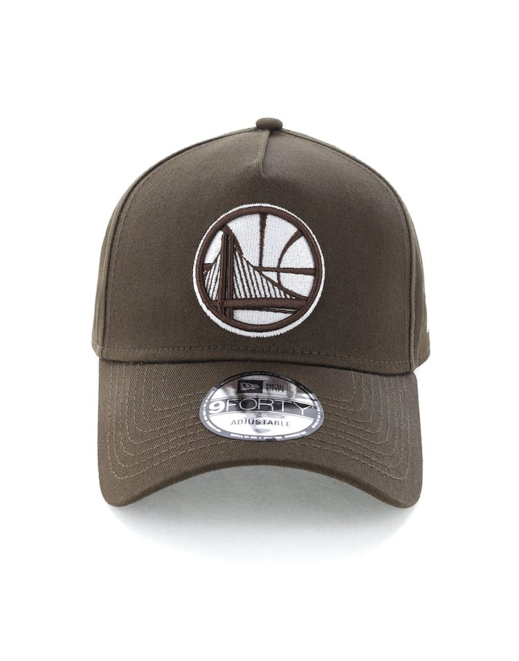 New Era Golden State Warriors 9FORTY A-Frame Snapback Chestnut