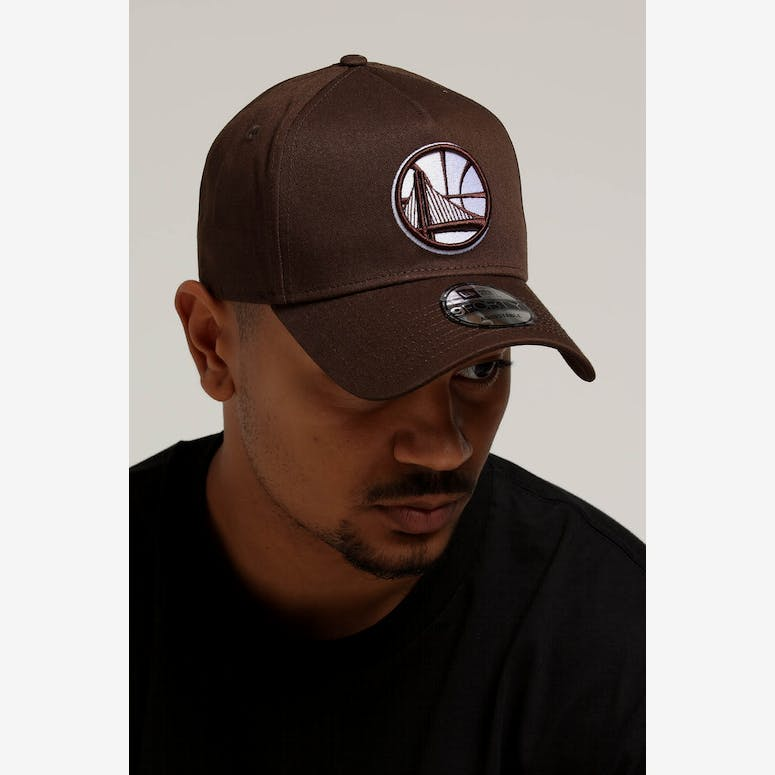 4e327c0c6d1 New Era Golden State Warriors 9FORTY A-Frame Snapback Chestnut – Culture  Kings