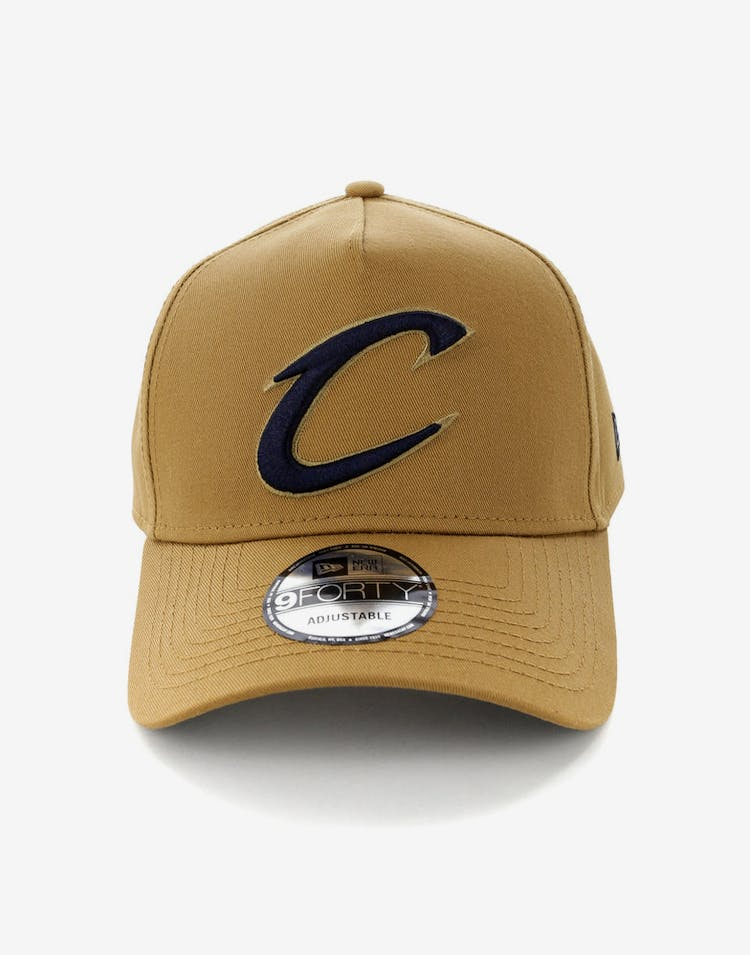 1e221646ec6 New Era Cleveland Cavaliers 9FORTY A-Frame Navy UV Snapback Wheat – Culture  Kings
