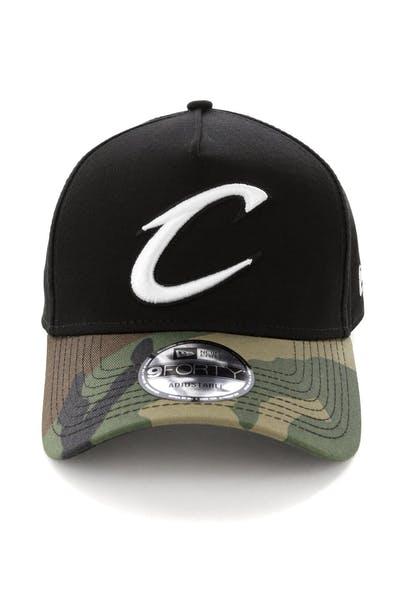 the best attitude 0d0c2 4377d New Era Cleveland Cavaliers 2 Tone 9FORTY A-Frame Snapback Black Camo ...