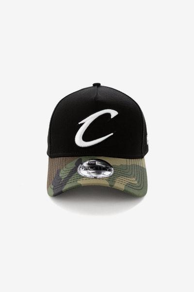 New Era Cleveland Cavaliers 2 Tone 9FORTY A-Frame Snapback Black Camo 988b89b0ad91