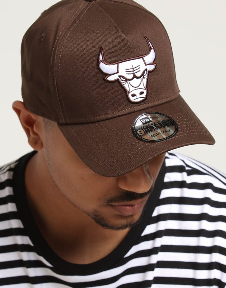 sports shoes b8ed2 65a1a New Era Chicago Bulls 9FORTY A-Frame Snapback Chestnut – Culture Kings