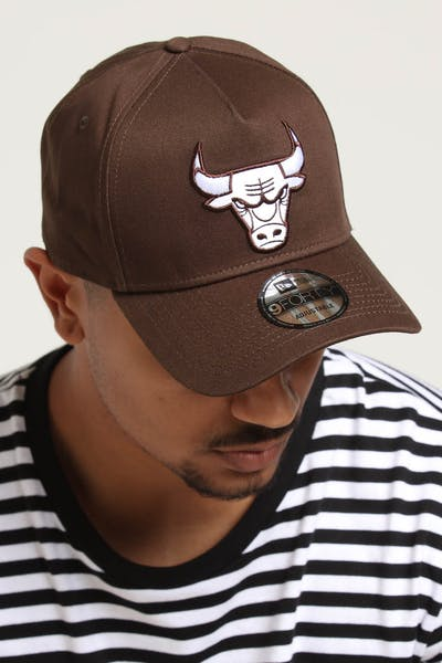 release date 67f7e ad9a4 New Era Chicago Bulls 9FORTY A-Frame Snapback Chestnut ...