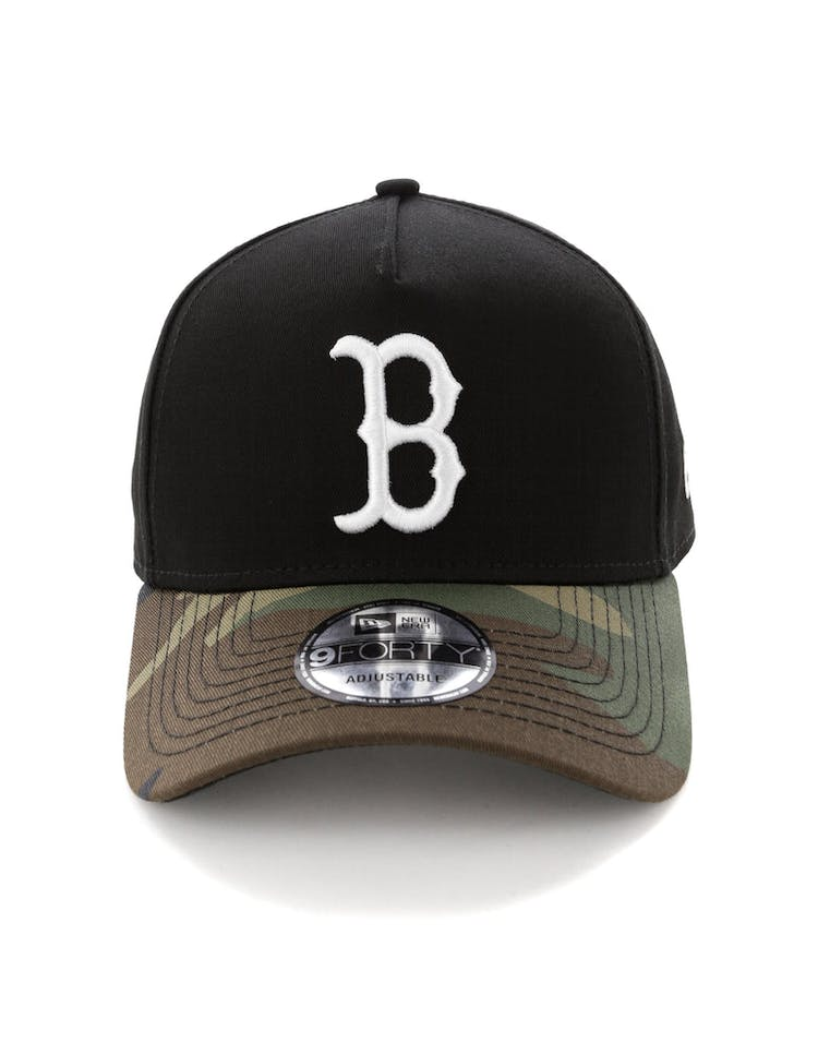 5daeaa46d New Era Boston Red Sox 2 Tone 9FORTY A-Frame Snapback Black/Camo – Culture  Kings