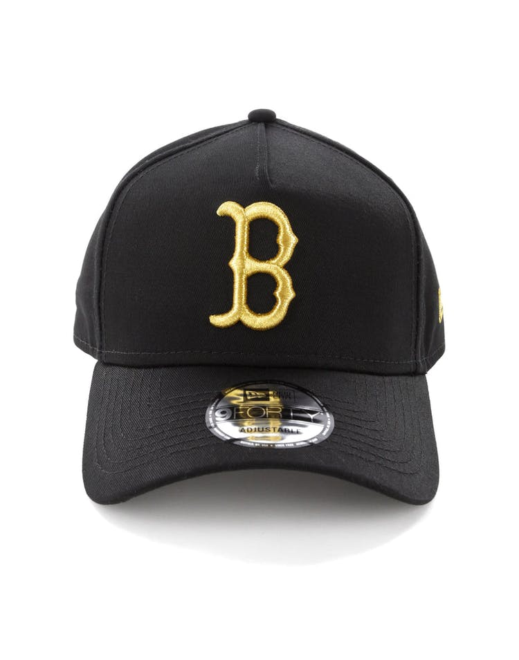 e709a4f0 New Era Boston Red Sox 9FORTY A-Frame Snapback Black/Gold – Culture Kings
