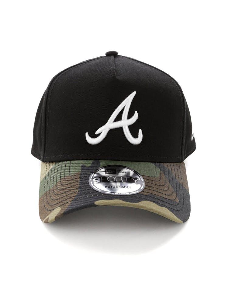 new arrivals 5e9cf 9b3b5 New Era Atlanta Braves 2 Tone 9FORTY A-Frame Snapback Black Camo – Culture  Kings