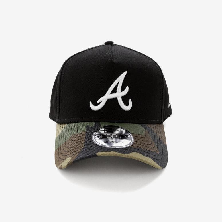 New Era Atlanta Braves 2 Tone CK 940 A-Frame Snapback Black/Camo ...