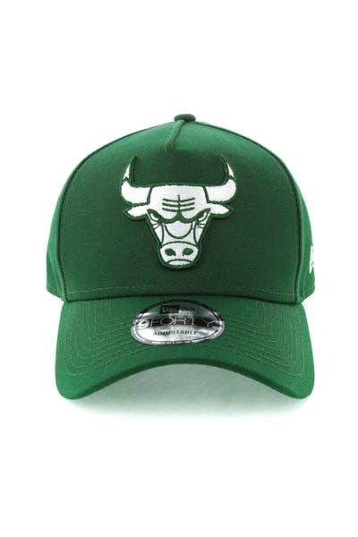 quality design 563fc 74978 New Era Chicago Bulls 9FORTY A-Frame Snapback Eden Green