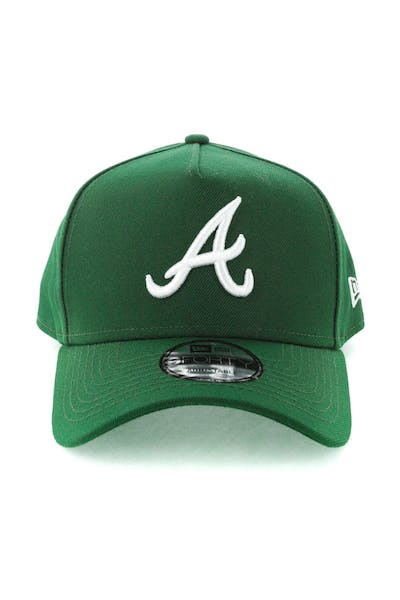 d03d1135312 New Era Atlanta Braves 9FORTY A-Frame Snapback Eden Green