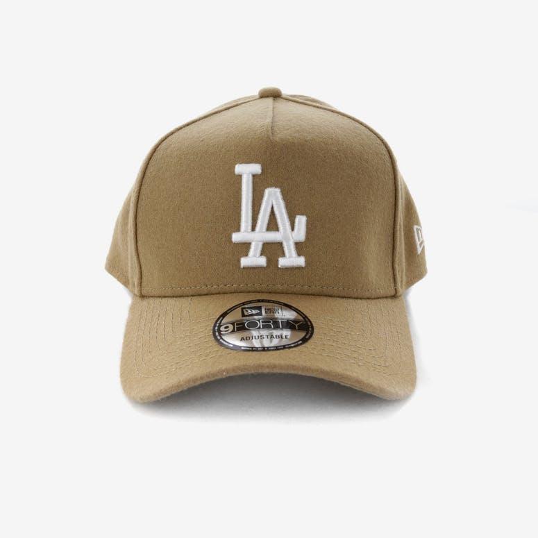 d7d65e87eb6 New Era Los Angeles Dodgers 9FORTY A-Frame Melton Snapback Camel – Culture  Kings