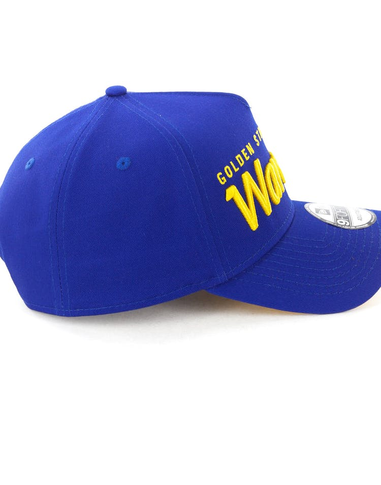 hot sale online 8cc1c 8aac6 New Era Golden State Warriors Script 9FORTY A-Frame Snapback Royal Yellow