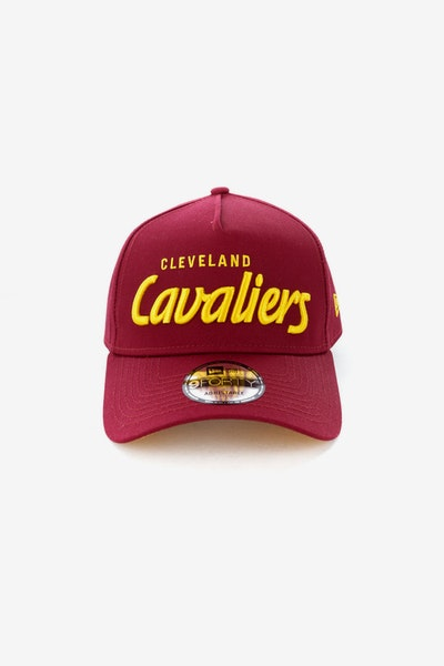 c1da6cfe79a New Era Cleveland Cavaliers Script 9FORTY A-Frame Snapback Burgundy Gold
