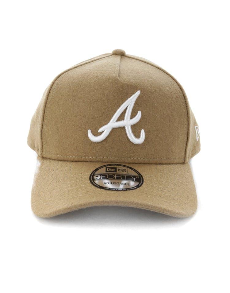finest selection a45b5 6a9cd New Era Atlanta Braves 9FORTY A-Frame Melton Snapback Camel – Culture Kings