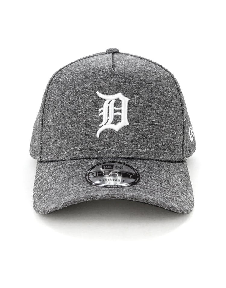 new style 0de60 fe87e New Era Detroit Tigers 9FORTY A-Frame Melange Snapback Dark Grey White –  Culture Kings