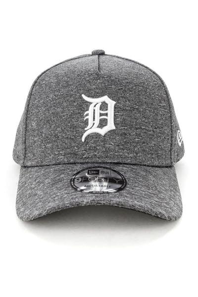 brand new e3990 edd9b New Era Detroit Tigers 9FORTY A-Frame Melange Snapback Dark Grey White