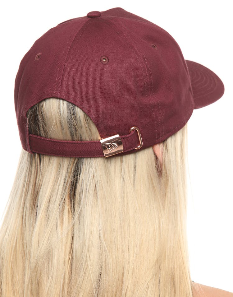 d322587b63073 New Era Women s New York Yankees 9FORTY A-Frame Strapback Maroon Rose Gold