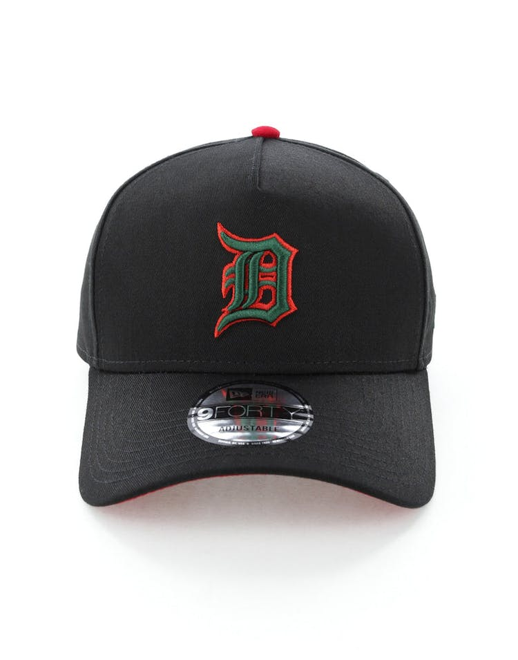 sports shoes 953c9 7fdc1 New Era Detroit Tigers 9FORTY A-Frame Snapback Black Green Red – Culture  Kings