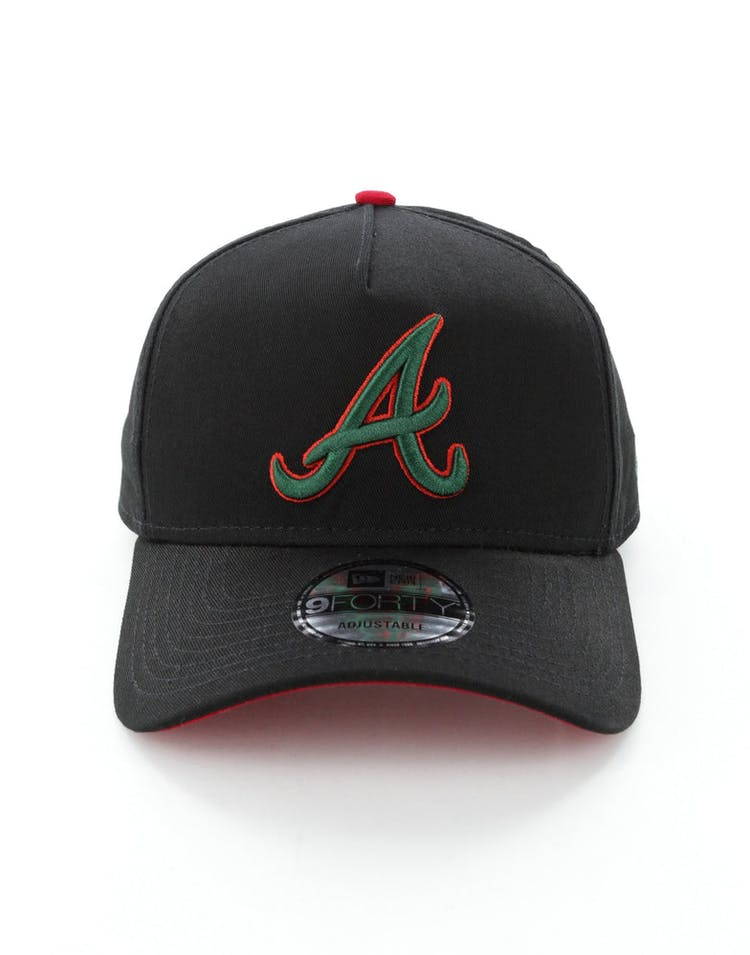 wholesale dealer c1816 91c6e New Era Atlanta Braves 9FORTY A-Frame Snapback Black Green Red – Culture  Kings
