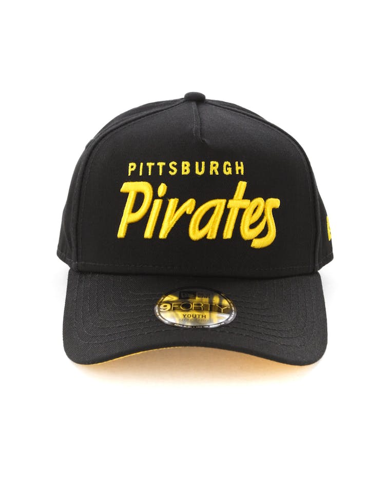 dbdaa4886914f New Era Youth Pittsburgh Pirates 940 Script 9FORTY A-Frame Snapback Bl –  Culture Kings