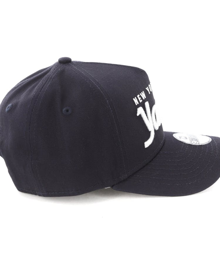 a2b93c8a7 New Era Youth New York Yankees 940 Script 9FORTY A-Frame Snapback Navy/White
