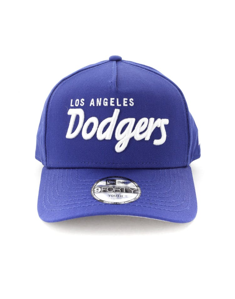 029940bf New Era Youth Los Angeles Dodgers 940 Script 9FORTY A-Frame Snapback R –  Culture Kings