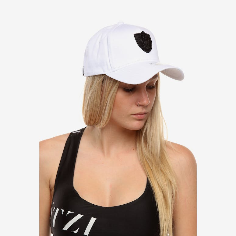 New Era Women s Raiders 9FORTY A-Frame Embroidered Strapback White Bla – Culture  Kings 5c9c8ecaac72